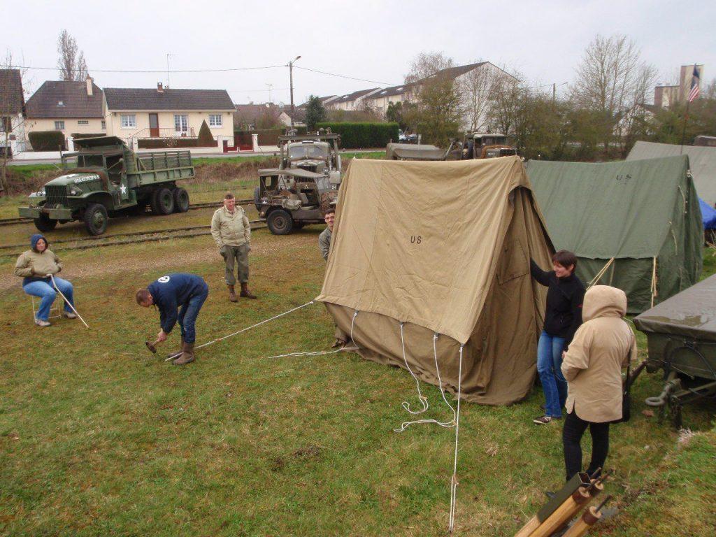 Village de toiles militaires