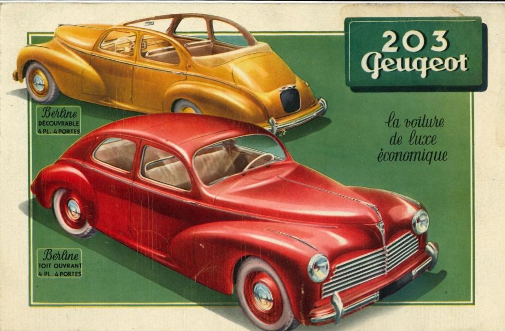 Courtenay 2018 pour les 70 ans de la Peugeot 203