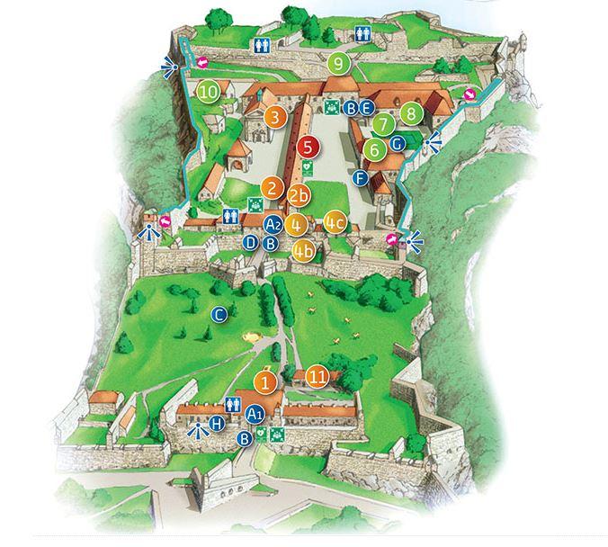 Plan de la citadelle